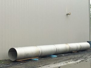 Large Fabricated Stainless Steel Cylinder